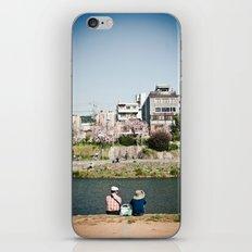 By the Kamogawa in Spring, Kyoto iPhone & iPod Skin