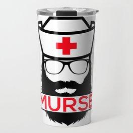 Murse Male Nurse Hospital Health Care Travel Mug