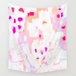 Netta - abstract painting pink pastel bright happy modern home office dorm college decor Wall Tapestry