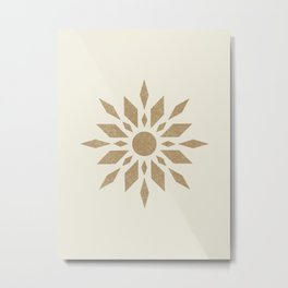 Sunburst Retro - Gold Metal Print