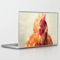 chicken Laptop & iPad Skins featuring chicken by Beverly LeFevre