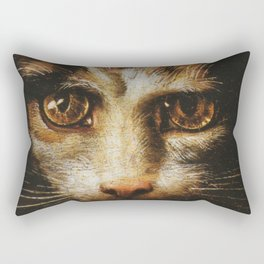 Cat in the art - Giuio Romano – the lady with the cat Rectangular Pillow