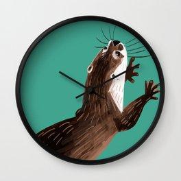 Asian small-clawed otter Marine Wall Clock
