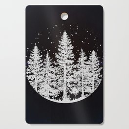 Trees in a Winter Forest Cutting Board