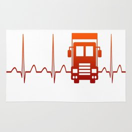 TRUCK DRIVER HEARTBEAT Rug