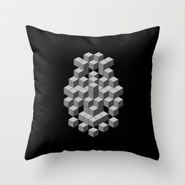 Back to my Cube Roots Throw Pillow