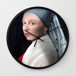 In de stijl van... Vermeer Wall Clock