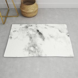 Gentle Marble Collection: Angel Wing White With Dove Gray Veins Rug