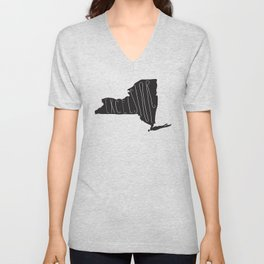 New York Motto - Black Unisex V-Neck