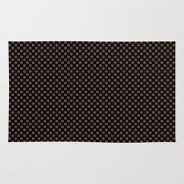 Black and Carafe Polka Dots Rug