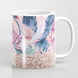 Rose gold pastel spring gardens Coffee Mug