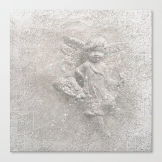 White christmas angel Canvas Print