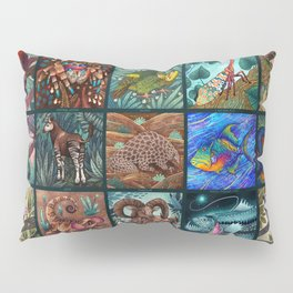 The Unusual Animal Alphabet Pillow Sham
