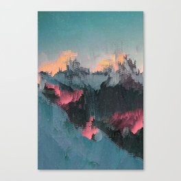 Glitched Landscapes Collection #1 Canvas Print