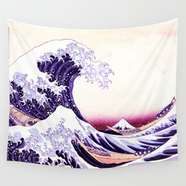The Great wave purple fuchsia Wall Tapestry