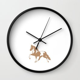 God Created Horses Painted the Good Ones T-Shirt Wall Clock