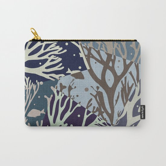 Under the Sea - Abstract Carry-All Pouch