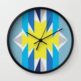 SUN_Yellow Star_Summer - Style Me Stripes Wall Clock