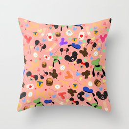 A day at the park (Disneyland) Throw Pillow