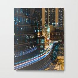 Subway Light Trails I Metal Print