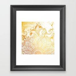 Golden brush Framed Art Print