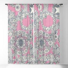 cirque fleur candy Sheer Curtain
