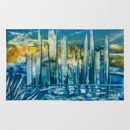 Blue City Encaustic Rug