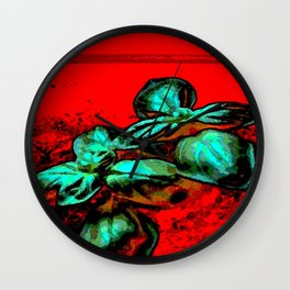 landscape red green Wall Clock