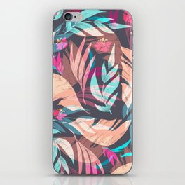 Tropical Exotic Flowers Hand Drawn Style iPhone Skin