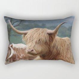 Portrait of Highland Cattle Rectangular Pillow