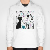 kittens Hoodies featuring Halloween Kittens  by Carly Watts