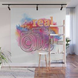 Let's Get Real Camera Wall Mural