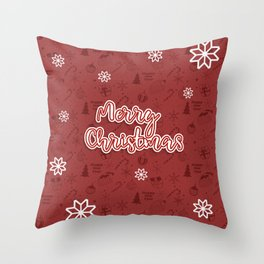New Year, Christmas, winter holidays illustration Throw Pillow