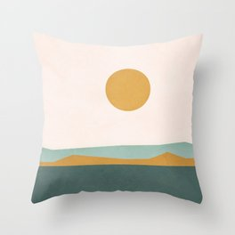 Minimal Line Scape III Throw Pillow