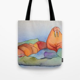 Warm Walrus Contemplating Cool Wishes Tote Bag