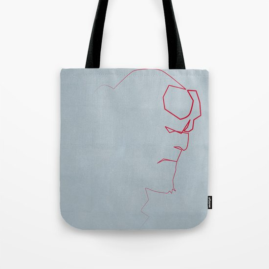 One line Boy from Hell Tote Bag