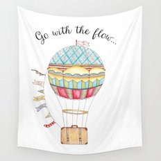 Go with the flow Wall Tapestry