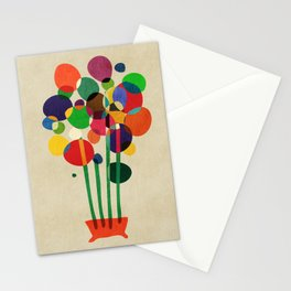 Happy flowers in the vase Stationery Cards
