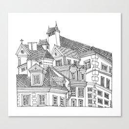 Old Town (Stare Miasto) - Warsaw, Poland Canvas Print