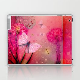 Wonderful butterflies with dragonfly Laptop & iPad Skin