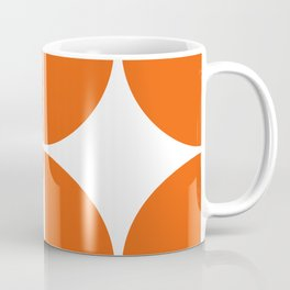 Mid Century Modern Orange Square Coffee Mug