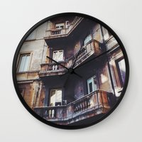 roman Wall Clocks featuring Roman Balconies by Forgotten Charm