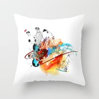 sketch Throw Pillows featuring Sketch by Adriana Bermúdez