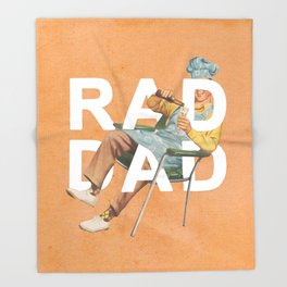 Rad Dad Throw Blanket