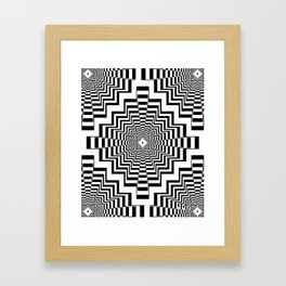 Interdimensional Inca Beat Framed Art Print