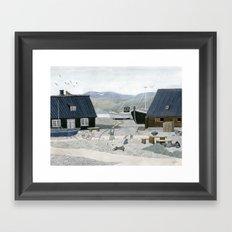 North Fishing Village Framed Art Print