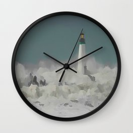 SANTA CRUZ LIGHT HOUSE 011 Wall Clock