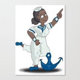 Anchor Pose Canvas Print