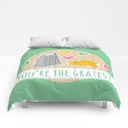 Gratest Food Pun Comforters