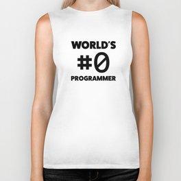 World's #0 programmer Biker Tank